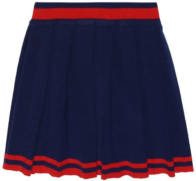 Gucci Kids Pleated wool skirt