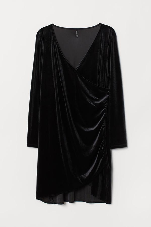 H&M H&M+ Velour Dress - Black