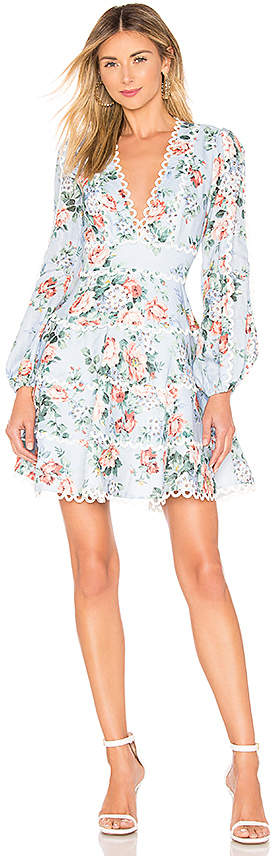 Zimmermann Bowie Flounce Short Dress