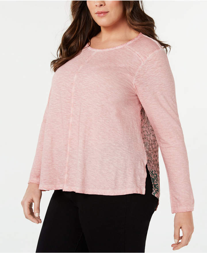 Style&Co. Style & Co Plus Size Print-Back Top
