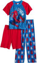 Spiderman SPIDER MAN Marvel's 3-Pc. Pajama Set, Little Boys (4-7) and Big Boys (8-20)