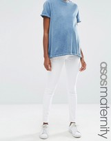 Asos Ridley Skinny Jean in White With Under the Bump Waistband