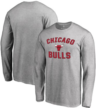 Fanatics Men's Gray Chicago Bulls Victory Arch Long Sleeve T-Shirt