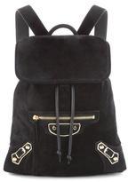 Balenciaga Metallic Edge Traveller Xs Suede Backpack