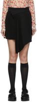Shushu/Tong Black Pleat Miniskirt