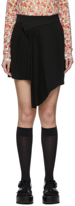 SHUSHU/TONG Black Pleat Miniskirt