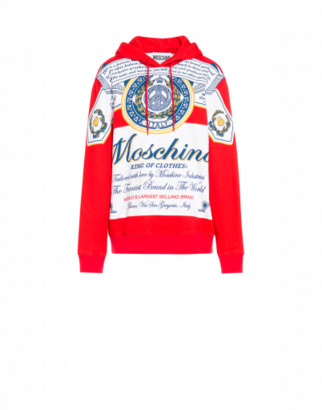 Moschino Budweiser Hoodie Woman Red Size 36 It - (2 Us)