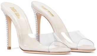 Paris Texas Embellished suede and PVC sandals