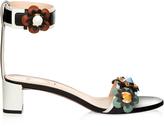 Fendi Flowerland leather sandals