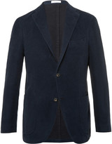 Boglioli - Navy Slim-fit Cotton-moleskin Blazer