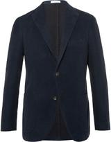 Boglioli Navy Slim-Fit Cotton-Moleskin Blazer