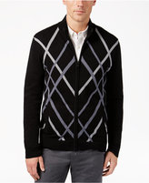 Alfani Men's Pattern Zip-Front Cardigan, Only at Macy's