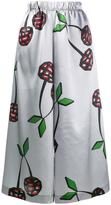 Natasha Zinko cherry print satin culottes - women - Polyester/Spandex/Elastane - 36