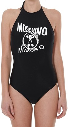 Moschino Distorted Double Question Mark Swimsuit