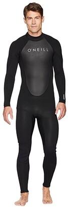 O'Neill Reactor-2 3/2 Back Zip Full (Black/Black) Men's Swimwear