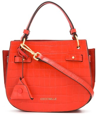 Coccinelle Didi crocodile embossed mini tote