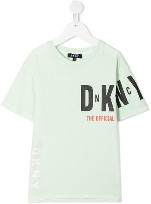DKNY Logo-Sleeve T-Shirt