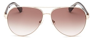 Kate Spade Women's Geneva Brow Bar Aviator Sunglasses, 59mm