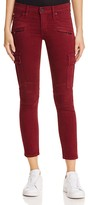Hudson Ankle Moto Skinny Cargo Jeans in Dark Amber