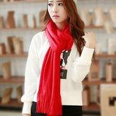 KAKA(TM) Women's Korean Artistic Stylish Winter Colorful Knitting Wool Scarves Oversized Dual Using Scarf Shawl 21 Colors
