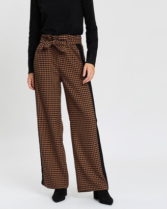 Scotch & Soda Wide Leg Pants With Contrast Side Panel
