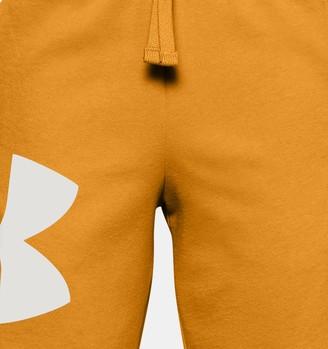 Under Armour Boys' UA Rival Fleece Big Logo Shorts
