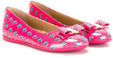 Salvatore Ferragamo Kids - owl print ballerinas - kids - Calf Leather/Patent Leather/rubber - 30