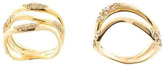 Joanna Laura Constantine set of two embellished rings