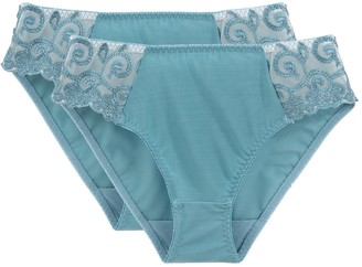 La Redoute Collections Pack of 2 Knickers in Embroidered Tulle