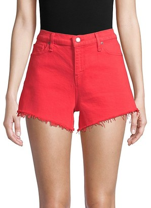 Hudson Gemma Mid-Rise Frayed Hem Denim Shorts