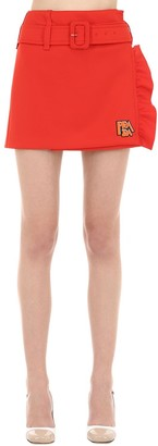 Prada Jersey Mini Skirt W/ Belt