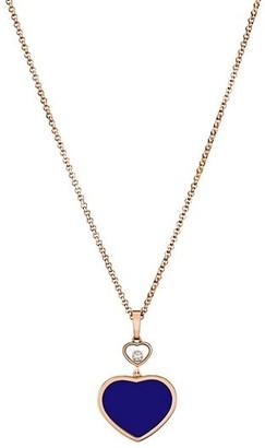 Chopard Happy Hearts 18K Rose Gold, Diamond & Lapis Lazuli Heart Pendant Necklace