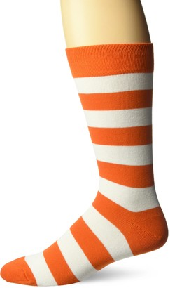 Hot Sox Men's Fashion Pattern Slack Crew Socks