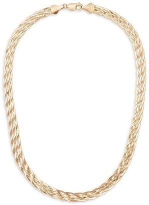 Lana 14K Liquid Gold Braided Choker Necklace