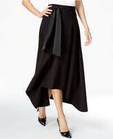 Jag Pull On Ribbon-Tie Asymmetrical-Hem Skirt