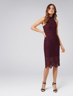 Forever New Beverley Lace Pencil Dress - Cherry Lips - 18