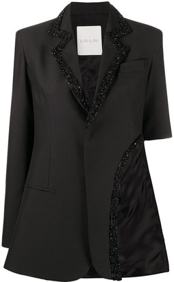 Loulou Sequin-Embellished Cutout Blazer
