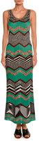 Missoni Sleeveless Zigzag Maxi Dress, Green/Multi