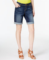 INC International Concepts Curvy-Fit Denim Shorts, Created for Macy's