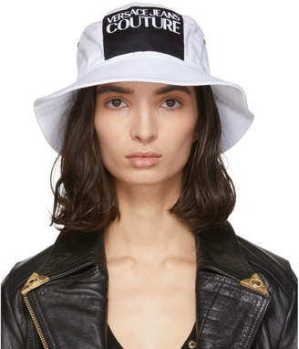 Versace White Logo Bucket Hat
