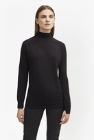 Rose Knit Turtle Neck Jumper