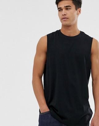 New Look sleeveless t-shirt in black