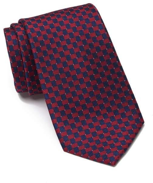 Nautica Dobbins Silk Blend Check Tie