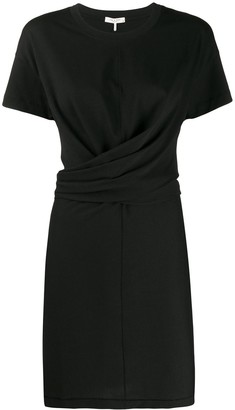Rag & Bone wrap front T-shirt dress