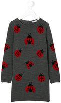 Dolce & Gabbana ladybug knitted dress - kids - Virgin Wool - 4 yrs