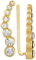 Rachel Roy Gold-Tone Crystal Ear Climbers