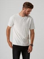 Frank and Oak Breton Crewneck T-Shirt in Gull Heather