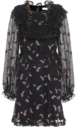 Chloé Silk-blend fil coupe dress
