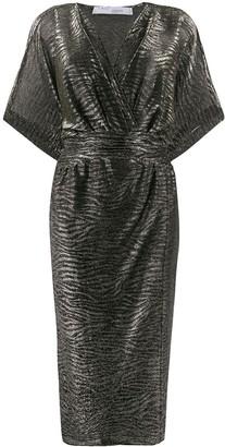 IRO animal print wrap dress