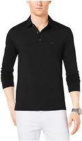 Michael Kors Long-Sleeve Cotton Polo Shirt